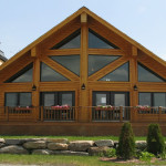 Modern And Traditional Log Home Appeal