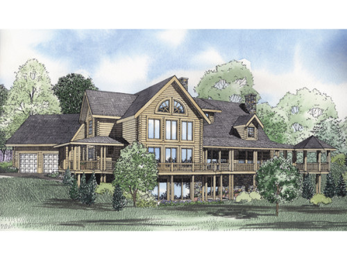Montana Bay Luxury Log Home Plan House Plans And More