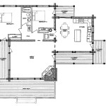 Monte Vista Log Home Floor Plan Main