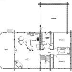 Mountaineer Log Home Floor Plan Main