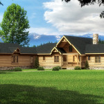 Mustang Creek Log Home Cabin Plans Southland Homes
