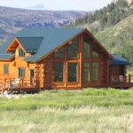 New Hand Hewn Log Home Private Acres