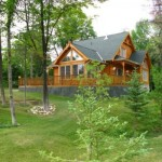 New Log Home Holland Centre Treed Lot