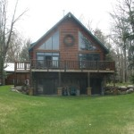 New Waterfront Log Home Chalet Old Forge For Sale Utica York