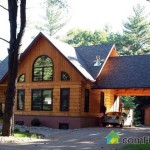 North Log Home For Sale Private Acres Magnificently Mature