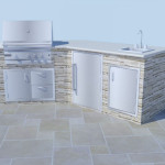 Outdoor Kitchen Kit Way Block Patio