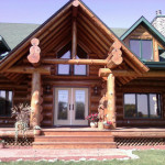 Over Sized Log Home Horse Barn And Indoor Riding Area For Sale