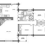 Pioneer Log Home Floor Plan Main