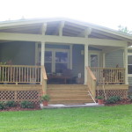 Porch Addition Craftsman Style This Manufactured Mobile Home