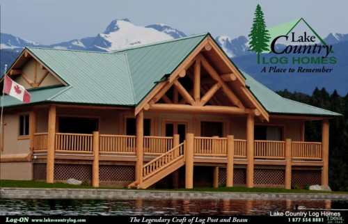Post Beam Log Home Detailed About