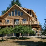 Pre Manufactured Log Home Package Timber Frame Conventional