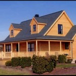 Ranch Style Modular Homes Log Siding And Wrap Around Porch From