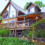 Real Estate Homes For Sale Grove Lakefront Log Home