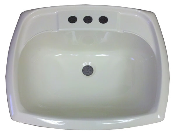 Rectangle Bone Plastic Sink For Mobile Home Manufactured Housing