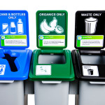 Recycling Bins That Are Connected Together Stay