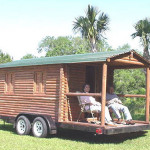 Reduced Price Real Vintage Log Cabin Trailer Tin Can Classifieds