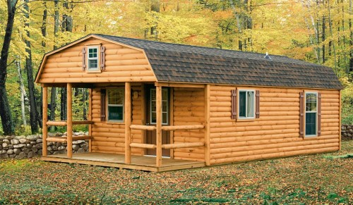 Rent Own This Log Cabin Shell From Mobile Home Repo