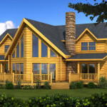 River Rock Log Home Cabin Plans Southland Homes