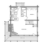 Rocky Mountain Log Home Floor Plan Main