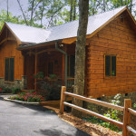 Rustic But Traditional Log And Timber Home Exterior