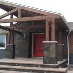 Rustic Modern Porch Addition And Exterior Remodel Contemporary