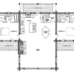 San Juan Log Home Floor Plan Main