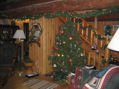 Schroeder Log Blog Cabin Christmas