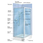 Shower You Choose Stall Acrylic Tray Shown Here