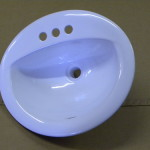 Sinks Oval Vitreous China Lavatory Sink For Mobile Homes