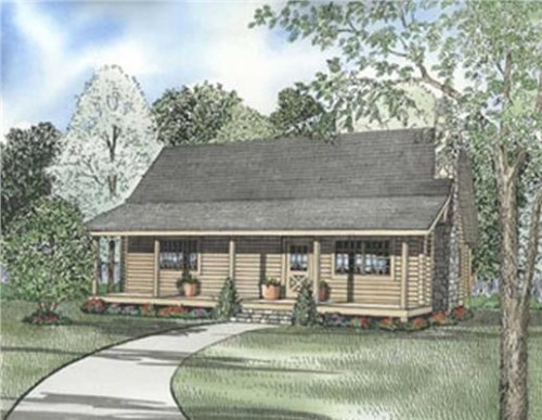 Small Log Cabin Houseplans Home Design Ndg