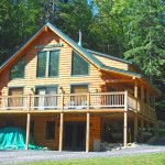 Small Log Home Floor Plan The Augusta Real Style