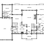South Fork Log Home Floor Plan Main