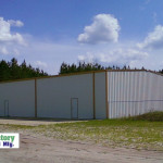 Steel Factory Mfg Prefab Commercial Storage Building Frame