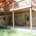 Stone Make Perfect For Accenting Log And Timber Frame Homes