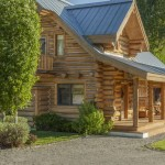The Acre Pioneer Moon Ranch Near Ketchum Idaho Includes Two Log