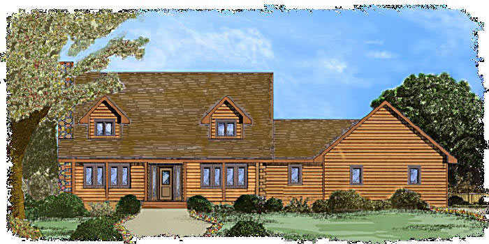 The Cascade Plan From Alabama Strongwood Log Homes