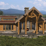 The Cumberland Drawn Milled Log Mountain Accent Home