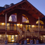 The Exterior This Impressive Handcrafted Log Duplex Large Arch