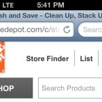 The Home Depot Mobile Site Truncated