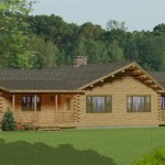 The Katahdin Cedar Log Home Kit Features Bedrooms And