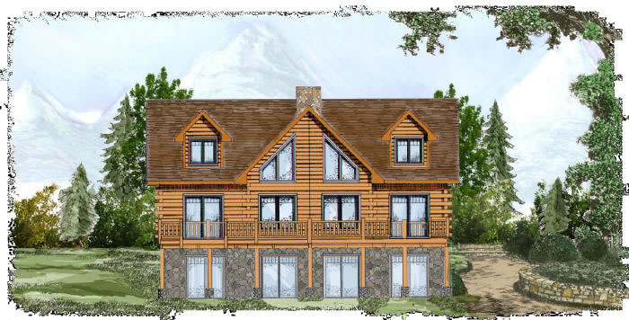 The Onaway Plan From Alabama Strongwood Log Homes