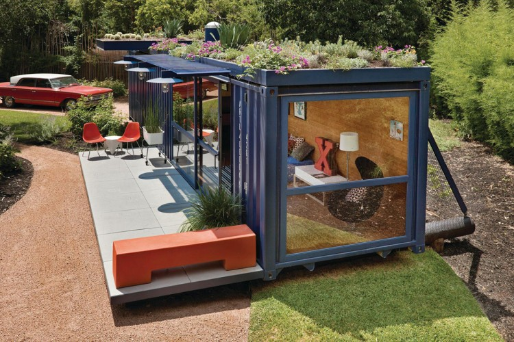 The Roof This Container Guest House San Antonio Garden