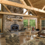 The Rustic Log Home Style Beaver Mountain Cedar Homes