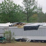 This Mobile Home Near Providence Was Pushed Off Its Foundation And