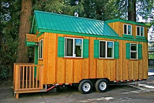 Tiny House Trailer Flip Porch This Molecule Home