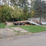 Trailer Collapse Leads Gas Leak Flint Township Mobile Home Park