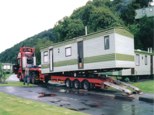 Transporting Standard Mobile Home From Wales Spain