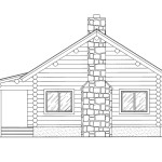 Trapper Log Home Floor Plan Main Second Front Elevation