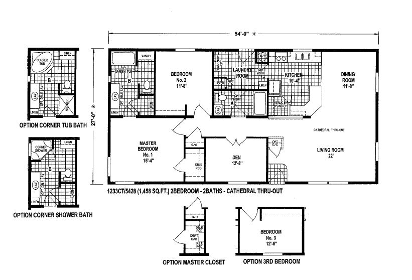 Triple Wide Manufactured Home Plans Halstonhomes Mobile