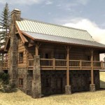 Valle Crucis North Carolina Hybrid Log Home Plan Building